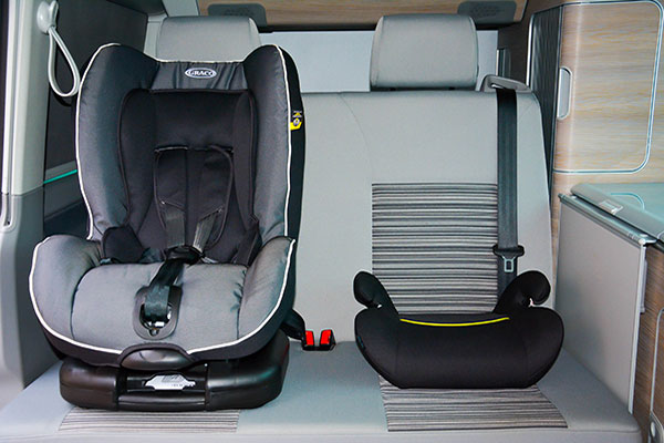 VW California with Child Safety Seat.
